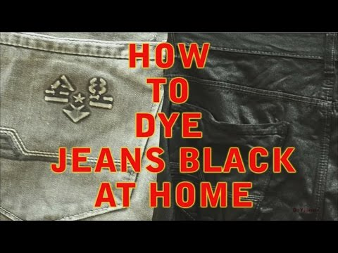 Dye jeans black at home