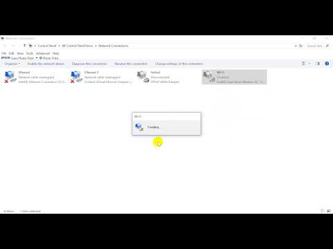 Disable and Enable Wifi Network Card on windows 10 quickly