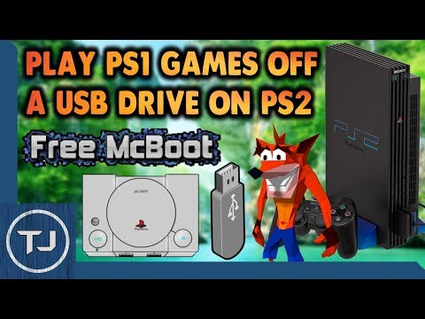 PS2 How To Play PS1 Games Off A USB Flash Drive!