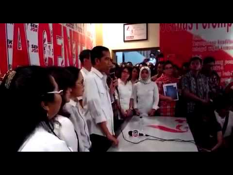 Jokowi's message to supporters at Seknas