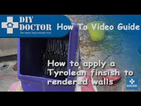 How to apply a Tyrolean Finish
