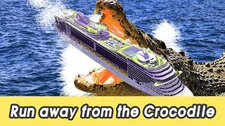 [EN] Run away from the crocodile! learn animals names, animals for kids, CollectaㅣCoCosToy