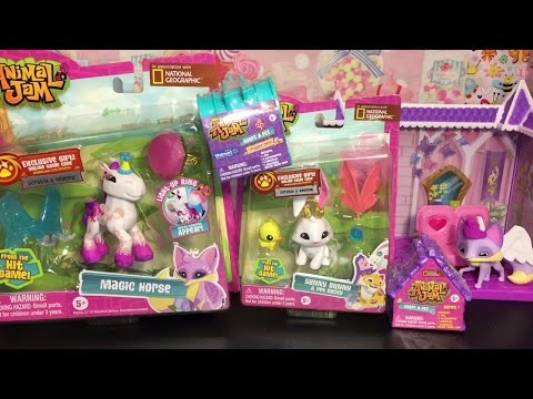 Animal Jam Toy Opening: Adopt a Pet Dens, Magic Horse, Sunny Bunny Unboxing