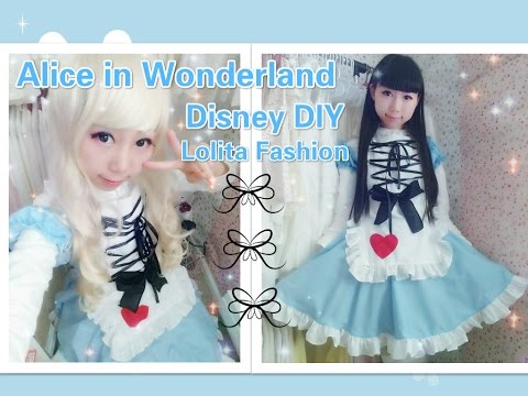 Disney Costume DIY- How to Make Alice in Wonderland Dress/Costume - Lolita Fashion
