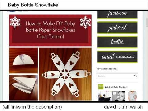62 Awesome Paper Snowflake Templates, Websites, Tutorials [Links In Description]