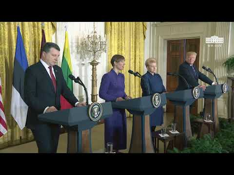 President Trump Hosts a Joint Press Conference with the Baltic States Heads of Government