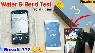 Realme 3 Water Test | Bend Test Realme 3 | Open Back Cover Realme 3 | Durability Test | Result ??☺👌