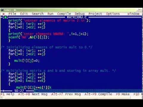 C program for Matrix Multiplication