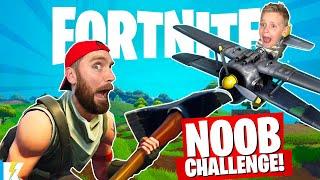 FORTNITE NOOB Challenge: Survive the CRAZY Battle Royale! | KIDCITY GAMING