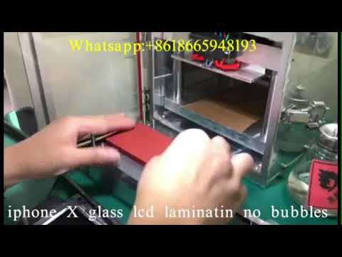 YMJ laminator for change iPhone X broken glass iPhone X LCD repair