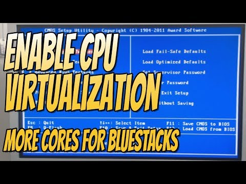 How To Enable CPU Virtualization In Your BIOS   Extra CPU Cores In Android Emulators
