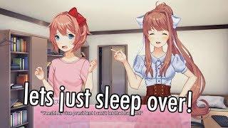 A sleepover with MONIKA!? | Doki Doki New END! | Doki Doki Literature Club