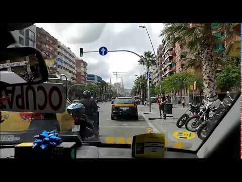 Taxi Ride from Barceloneta Beach to Sagrada Familia Barcelona Spain