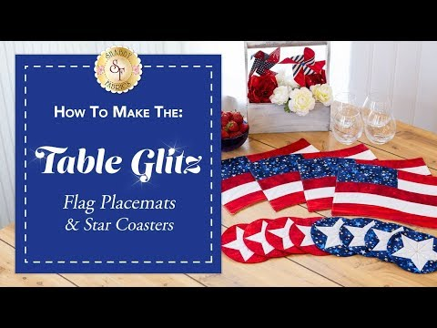 How to Make Patriotic Placemats & Coasters | A Shabby Fabrics Sewing Tutorial