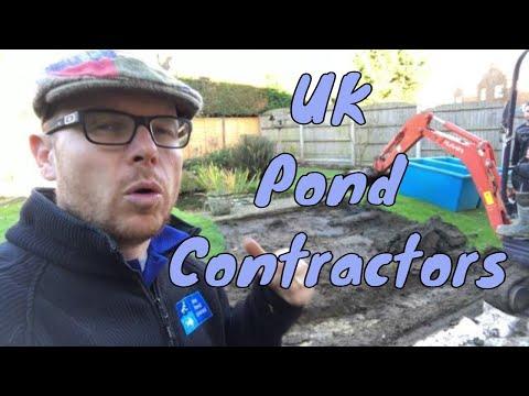 Building a Negative Edge Pond - UK Pond Contractors
