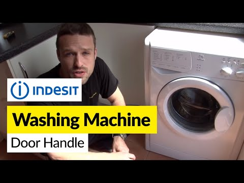 How to replace a washing machine door handle on an Indesit washer