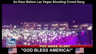 "Crowd Sings ""God Bless America"" An Hour Before Las Vegas Shooting"