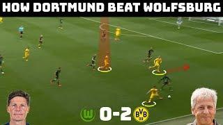 Tactical Analysis: Wolfsburg 0-2 Dortmund | Dortmund Keep Up The Pressure | Goal: Hakimi & Guerreiro