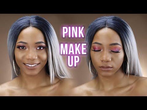 EASY Pink Glam Party/Club Makeup Tutorial 2018 | Annesha Adams