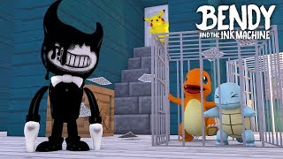Minecraft BENDY AND THE INK MACHINE!! - CHARMANDER & SQUIRTLE ARE TRAPPED IN BENDY