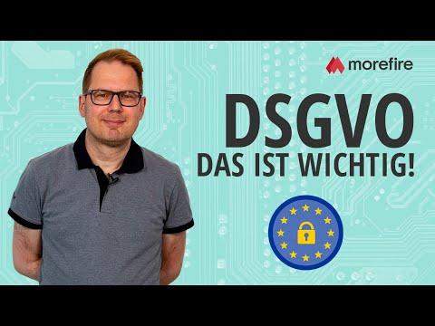 DSGVO: Das solltest Du noch unbedingt umsetzen | morefire