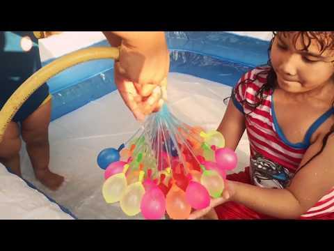 Happy Baby Balloons- 100 Water Balloons in 60 secs