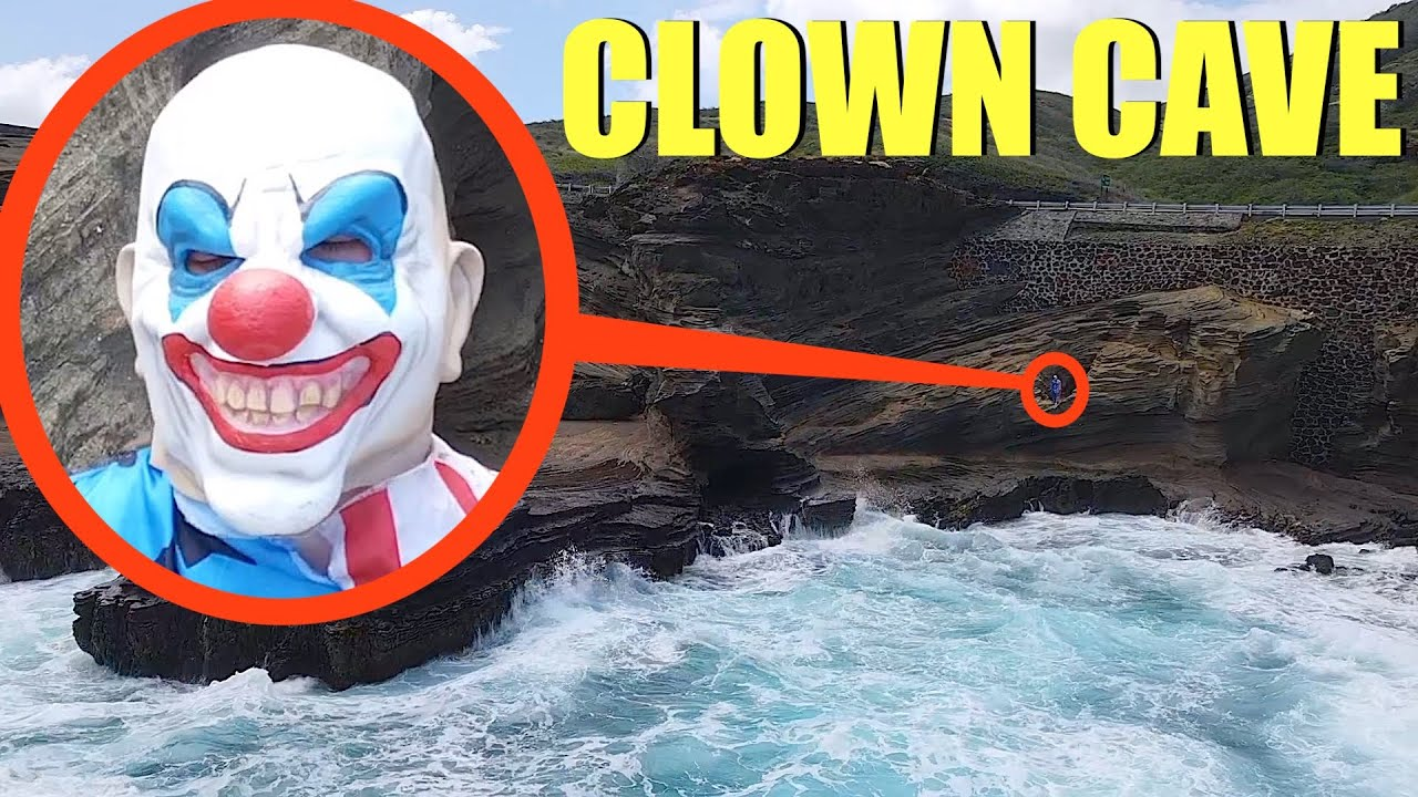 when you see this clown inside of Clown Cave, Do NOT go in the cave! Run away Fast!!