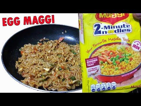Egg Maggi Noodles   Maggi Egg Noodles Recipe   Bachelors recipe