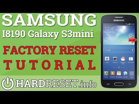 Hard Reset Samsung i8190 Galaxy S III mini - FACTORY RESET Using Settings