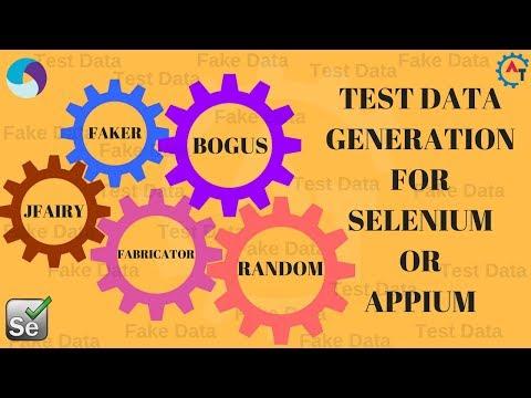 1. Test Data Generation for SELENIUM and APPIUM
