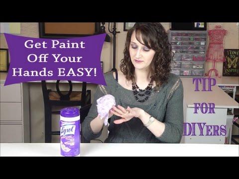 DIYer Tip - Get Paint off your Hands EASY   #73