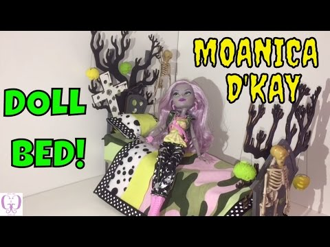 HOW TO MAKE A MONSTER HIGH MOANICA D'KAY DOLL BED