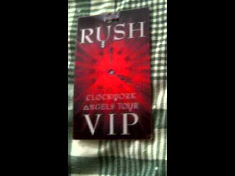 Rush Clockwork Angels Tour 2012 VIP Commemorative Tour Laminate