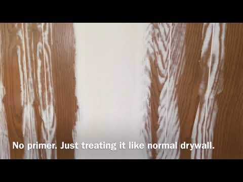 Wood Paneling and Wallpaper Cover with Fresco Harmony