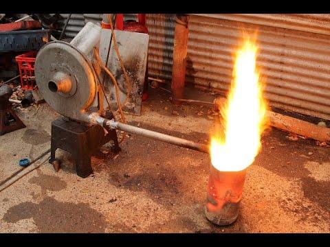 Vaporising waste oil burner Easy build