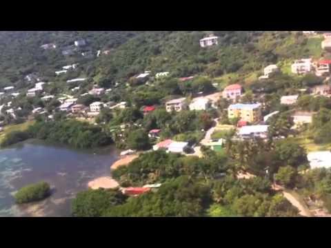 Landing at tortola , beef island