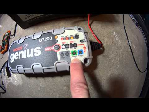 NOCO Genius® G7200 Battery Charger - Charge and Repair a Battery - Desulfate Car Battery