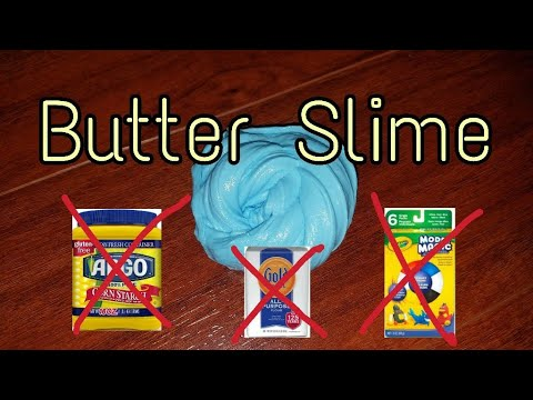 How to make BUTTER SLIME WITHOUT CLAY, CORN STARCH, OR FLOUR