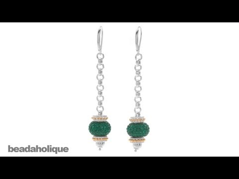 How to Use Dangle Stacker Earring Findings for European Style Large Hole Beads