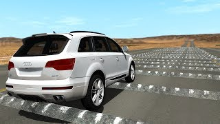 100+ Consecutive Speed Bumps High Speed Testing #5 - BeamNG DRIVE