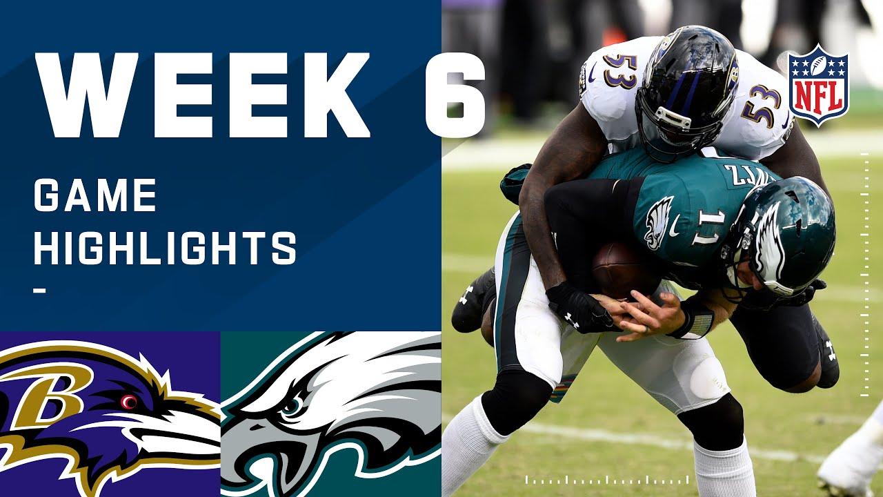 Ravens vs. Eagles Week 6 Highlights | NFL 2020
