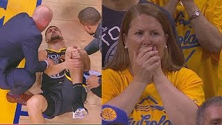 Klay Thompson Injury Then Returns To Standing Ovation In Game 6!