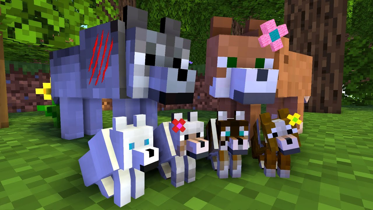WOLF LIFE MOVIE | Green Cubes Minecraft Animations | All Episodes