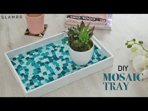 DIY Mosaic Tiles Serving Tray | Glamrs DIY