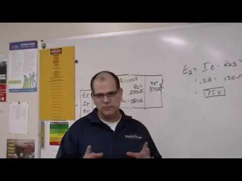 Solving for Voltage Drop in a Combination Circuit