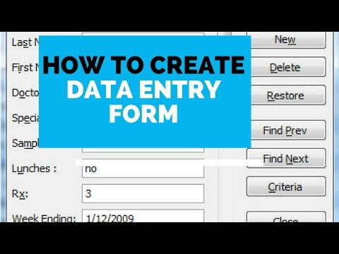 How to create Data entry form in Microsoft Excel