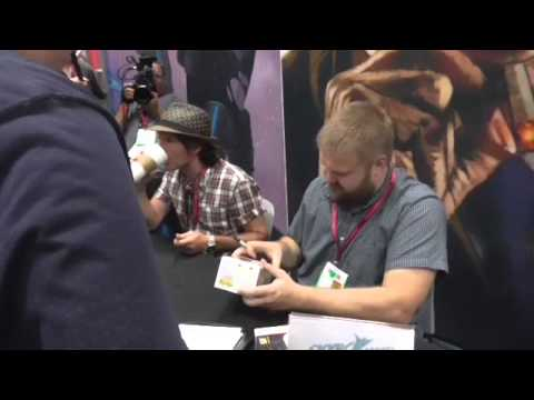 Robert Kirkman and Charlie Adlard signing at Comic Con 2014