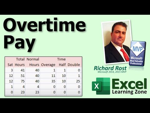 Microsoft Excel Tutorial - Calculating Overtime Pay for Employees