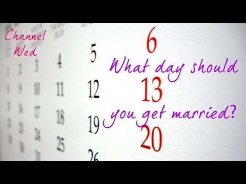 What Day Should You Get Married?