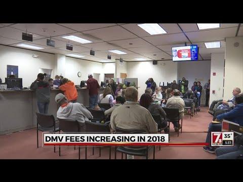 Registration fees at SC Dept. of Motor Vehicles go up January 1st